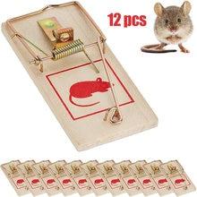12 adet Critter Catcher haşere kontrolü yeniden kullanılabilir ahşap fare kapanları yem fareler tuzak haşere kontrol Mousetraps bahçe malzemeleri