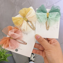 Oaoleer Hair Accessories Princess BB Clips for Girls Yarn Bows Organza Hairpins Handmade Cute Children Barrettes