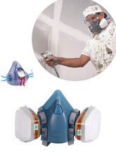 FSUP Half Face  gas mask respirator reusable anti-dust proof safety mask for painting spraying cleaning work chemical