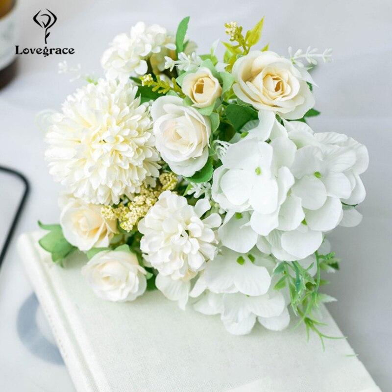M-choice Artificial Silk Rose Flower Valentines gift Romantic Rose Flower for Wedding Bouquet Birthday Garden Bridal Flower Saint Party Home Decor Pack of 12