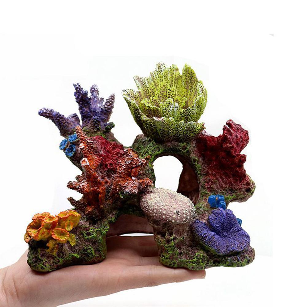Quarium Decoration Environments Cave Living Reef Fish Tank Resin Coral Aquarium
