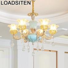 Decoracao Casa Loft Chambre Fille Led Nordic Crystal Luminaria Lustre E Pendente Para Sala De Jantar Deco Maison Hanging Lamp