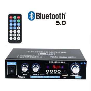 110V 220V 400W + 400W Mini 2 0 kanałowy wzmacniacz cyfrowy Bluetooth 5 0 odbiornik USB odtwarzacz muzyczny Stereo dla domu samochodu tanie i dobre opinie centechia CN (pochodzenie) 131-200 W Home Theater Amplifiers