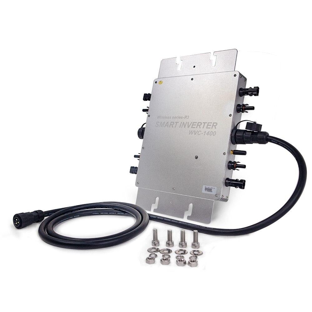 CE Zertifizierung IP65 1400W MPPT Auf Grid Micro Solar Inverter, 22-50VDC zu 80-280VAC, praktikabel für 4x350W 400W solar panel.
