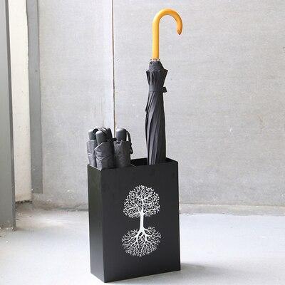 Железный Зонт Стенд Многофункциональный зонтик ведро с лотком для хранения воды Стенд можно повесить маленький футляр для зонта ведро - Цвет: D