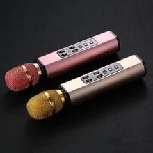 Multifunktionale Drahtlose Bluetooth Karaoke Mikrofon Mit Doppel Lautsprecher Tragbare Intelligente Mic Für Handy Karaoke