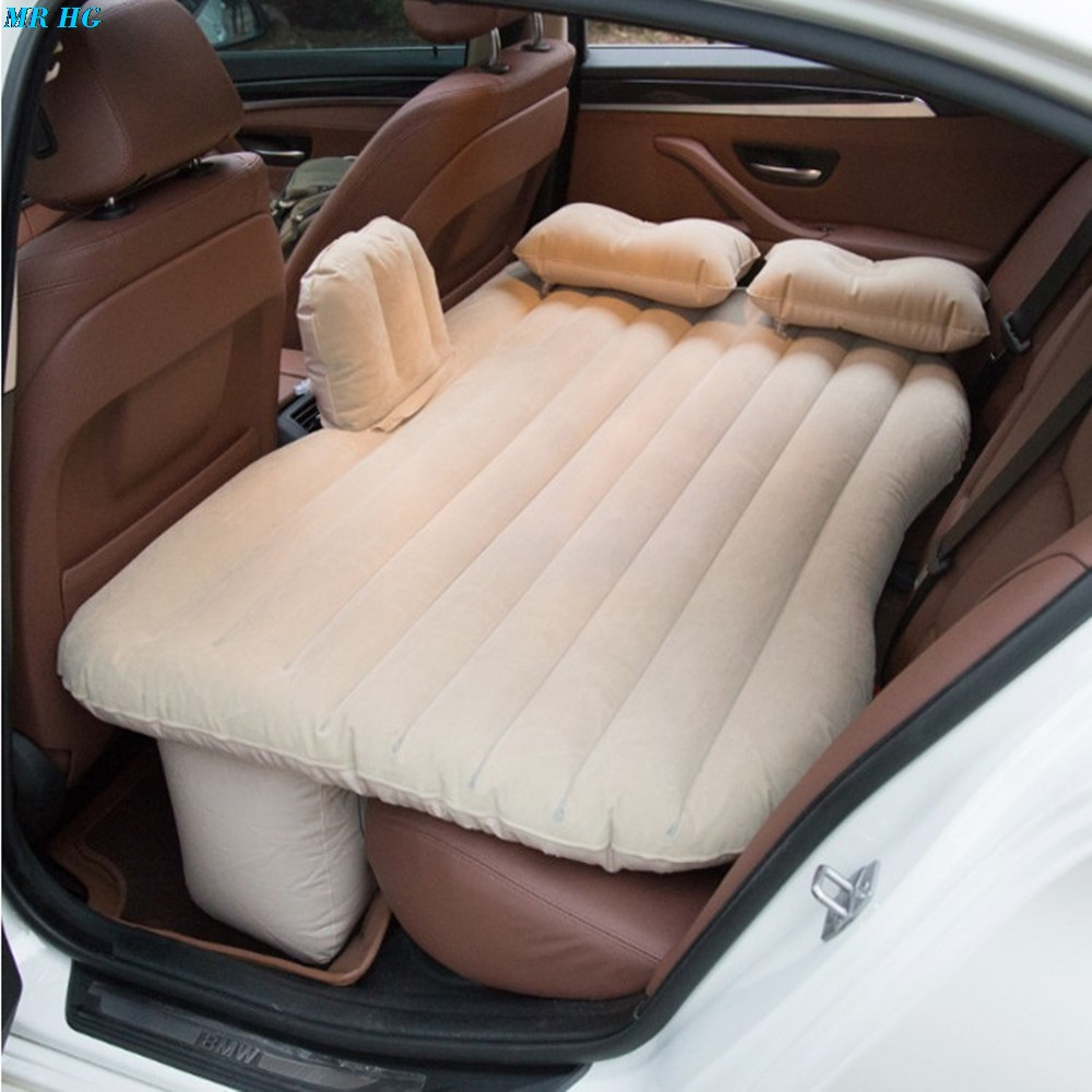 Multi-functional Car Inflatable Air Mattress Bed Back Seat Cushion Pillows Pump Travel Camping Beach Rest Tour Trip Lawn Picnic