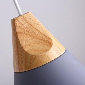 Image 5 - الشمال مجتمعة بار الخشب الحقيقي قلادة أضواء متعدد الألوان مصباح ألمنيوم نجفة مصابيح لغرفة الطعام تركيبة إضاءة المنزل