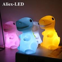 Led Children's Night Light Cartoon Dinosaur Table Lamp Soft Cute for Home Kid Bedroom Decoration Lamp Christmas Gift Baby Toys