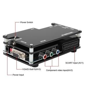 Image 3 - Zestaw konwertera OSSC HDMI do konsol gra Retro PS1 2 Xbox Sega Atari Nintendo, wtyczka amerykańska dodaj Adapter ue