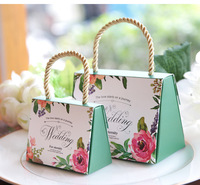100pcs/lot High quality Butterfly Flower Candy Boxes Wedding favors Portable Gift Box Party Favor Decoration