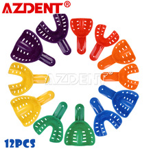12pcs/Set Childrens and Adults Dental Impression Trays Plastic Teeth Holder Trays Tools