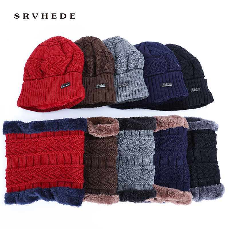 2019 Skullies Beanies Men Knitted Hat Scarf Winter Hats For Women Male Caps Gorras Bonnet Mask Warm Sport Cheap Beanie Hats