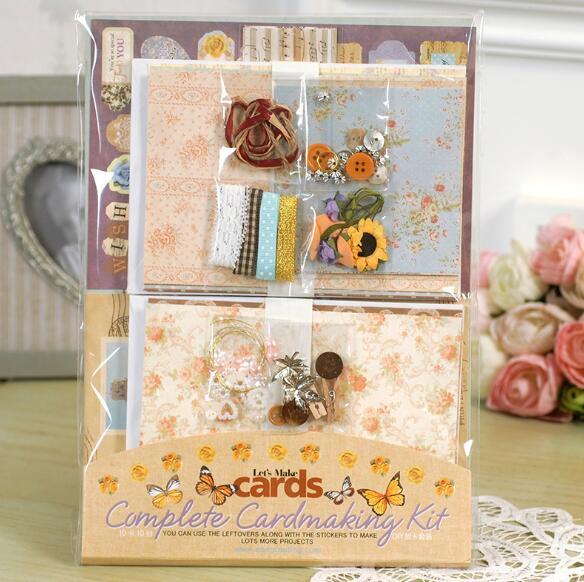 10pcs/lot Card Making Kit Creative Children's Diy Cards Thanksgiving Greeting Card Pack Scrapbook