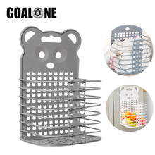 GOALONE Hanging Laundry Baskets Collapsible Hampers Saving Space Storage Basket with Handle Hook for Dirty Clothes Toys