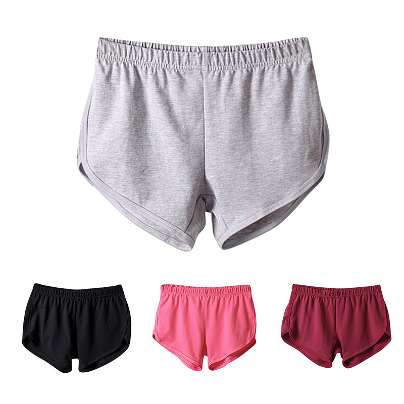 Women Summer Fashion Loose Breathable Soft Shorts Fitting Gym Sport Elastic Waist Short Beach Shots