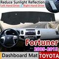 Для Toyota Fortuner 2005 ~ 2015 AN50 AN60 Hilux SW4 SR5 Противоскользящий коврик на приборную панель солнцезащитный коврик аксессуары с покрытием Ru
