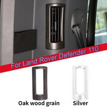 For Land Rover Defender 110 2020 ABS Chrome/Oak wood grain C-pillar air conditioning Air Outlet Frame Trim Car Accessories