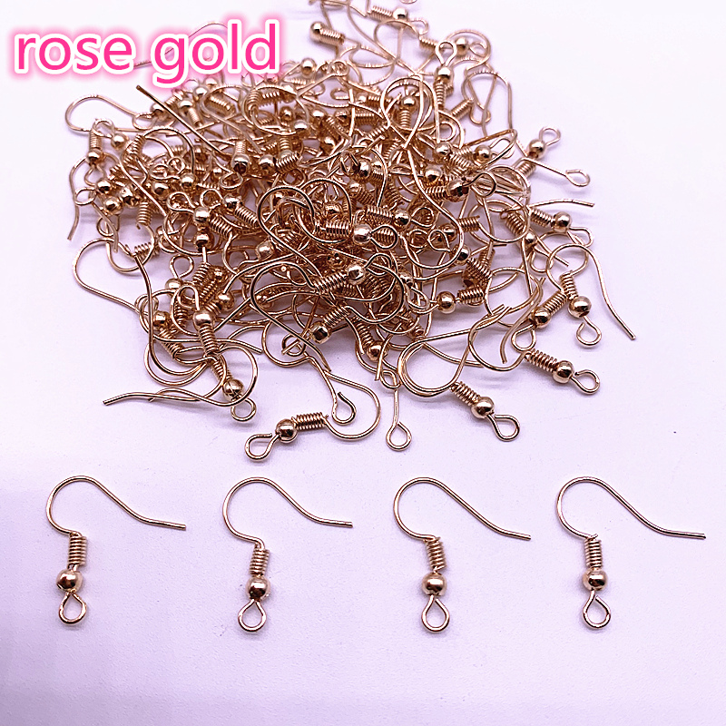 Wholesale 100PCS 50pair Findings Earring Hook Coil Ear Wire DIY Jewelry Making in Jewelry Findings Components from Jewelry Accessories