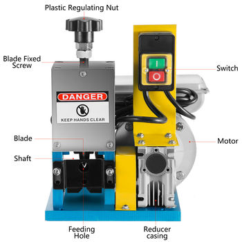 Electric Wire Stripping Machine 220V Powered Scrap 55-60 Feet/Min Cable Stripper European country Free Shipping cable peeling machine electric wire stripping machine metal tool scrap cable stripper