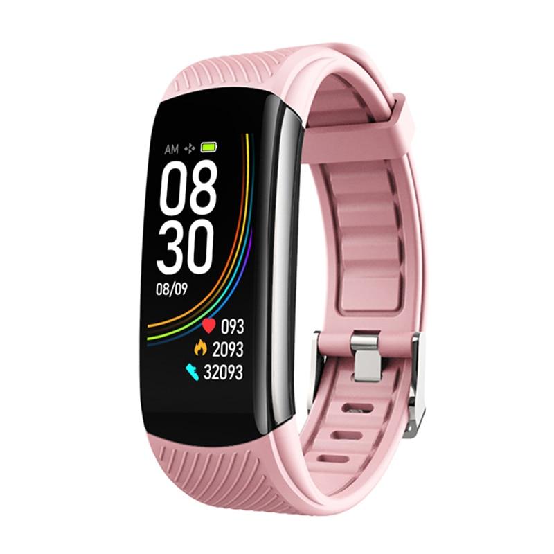 2020 New C6T Body Temperature Smart Bracelet Watch IP67 Waterproof Heart Rate Monitor Smartband Wristband Fitness Health Tracker