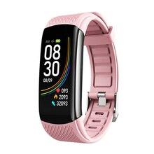 2020 nova temperatura do corpo c6t inteligente pulseira relógio ip67 à prova dip67 água monitor de freqüência cardíaca smartband pulseira fitness saúde rastreador