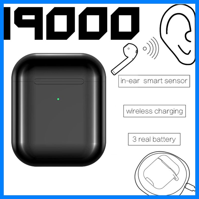 Original i9000 <font><b>Tws</b></font> 1:1 Air 2 3 AP2 <font><b>Smart</b></font> <font><b>Sensor</b></font> Earbuds Black Wireless Bluetooth Earphones Pk Chip Max pro Pods Elair image