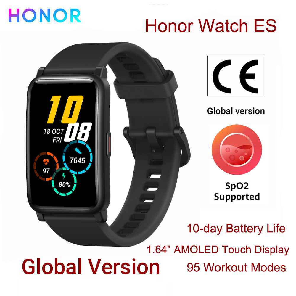 Huawei Honor Watch ES Global Version Smart Watch 1.64'' AMOLED Touch Display Heart Rate Monitor Blood Oxygen 5ATM Smartwatch New|Smart Watches| - AliExpress
