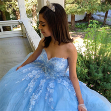 Quinceanera Dresses 3D Flowers Sweet 16 Dress Pageant Gowns