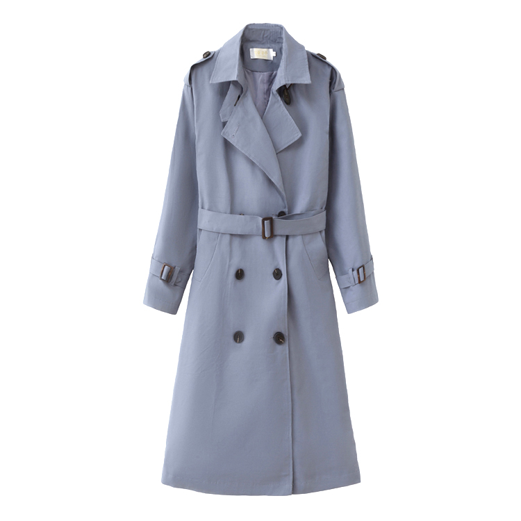 Hdb21c02edec94140ab3dd777f0dfbf4c7 Fashion Brand New Women Trench Coat Long Double-Breasted Belt Blue Khaki Lady Clothes Autumn Spring Outerwear Oversize Quality