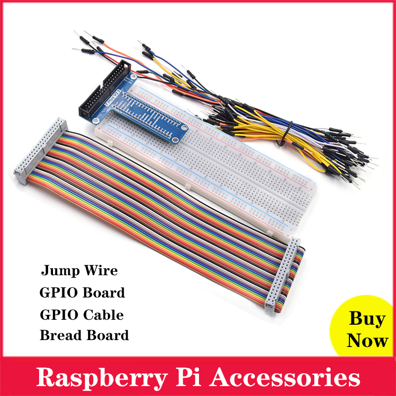 Raspberry <font><b>Pi</b></font> GPIO Extension <font><b>Board</b></font> + GPIO Cable + Bread <font><b>Board</b></font> + Jump Wire for Raspberry <font><b>Pi</b></font> 4 <font><b>3</b></font> Model B 4B 3B for <font><b>Orange</b></font> <font><b>Pi</b></font> image