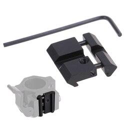 Adaptador de alcance táctico Base de montaje 11mm cola de milano a 20mm Weaver Picatinny Rail Mount caza Rifle anillo conversor accesorio