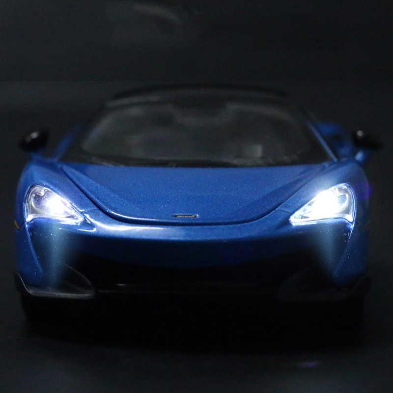 1:32 modello di auto in lega McLaren di simulazione in edizione limitata modello di auto tirare indietro auto musica leggera per bambini di auto giocattolo auto ragazzo giocattolo
