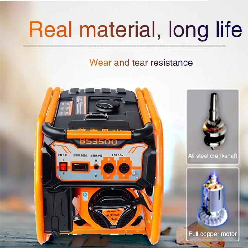 Commercial Portable Gasoline Generator Home Small Mute 3000W