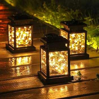 Słoneczne światło ogrodowe latarnia pałacowa żyrandol na świeżym powietrzu dekoracja dziedzińca lampa wodoodporna do zawieszenia na drzewko lampa gwiezdna tanie i dobre opinie OUIO CN (pochodzenie) solar lights lantern 1 year MSD001 IP55 Żarówki LED ART DECO HOLIDAY Bateria litowa Solar Garden Light