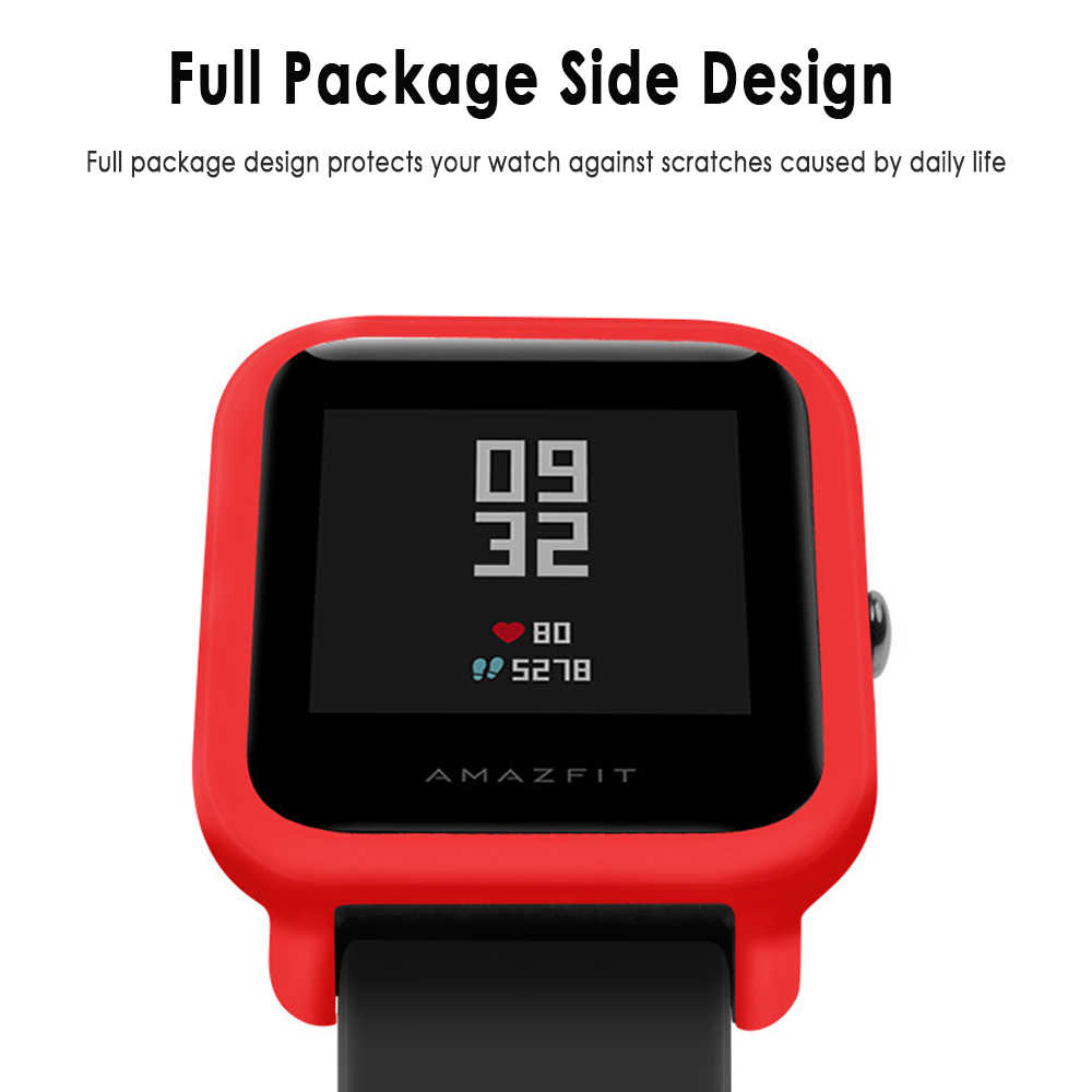 Silicone Protection Case For Huami AMAZFIT GTR 47mm Smart Watch Soft TPU Full Cover Replacement Film Shell Case Protector