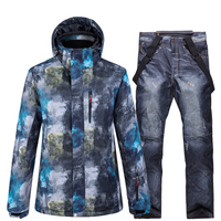 New Mens Snow Suit Wear Snowboard clothing Winter Outdoor Sports custome Waterproof windproof ski jackets and snow strap pants