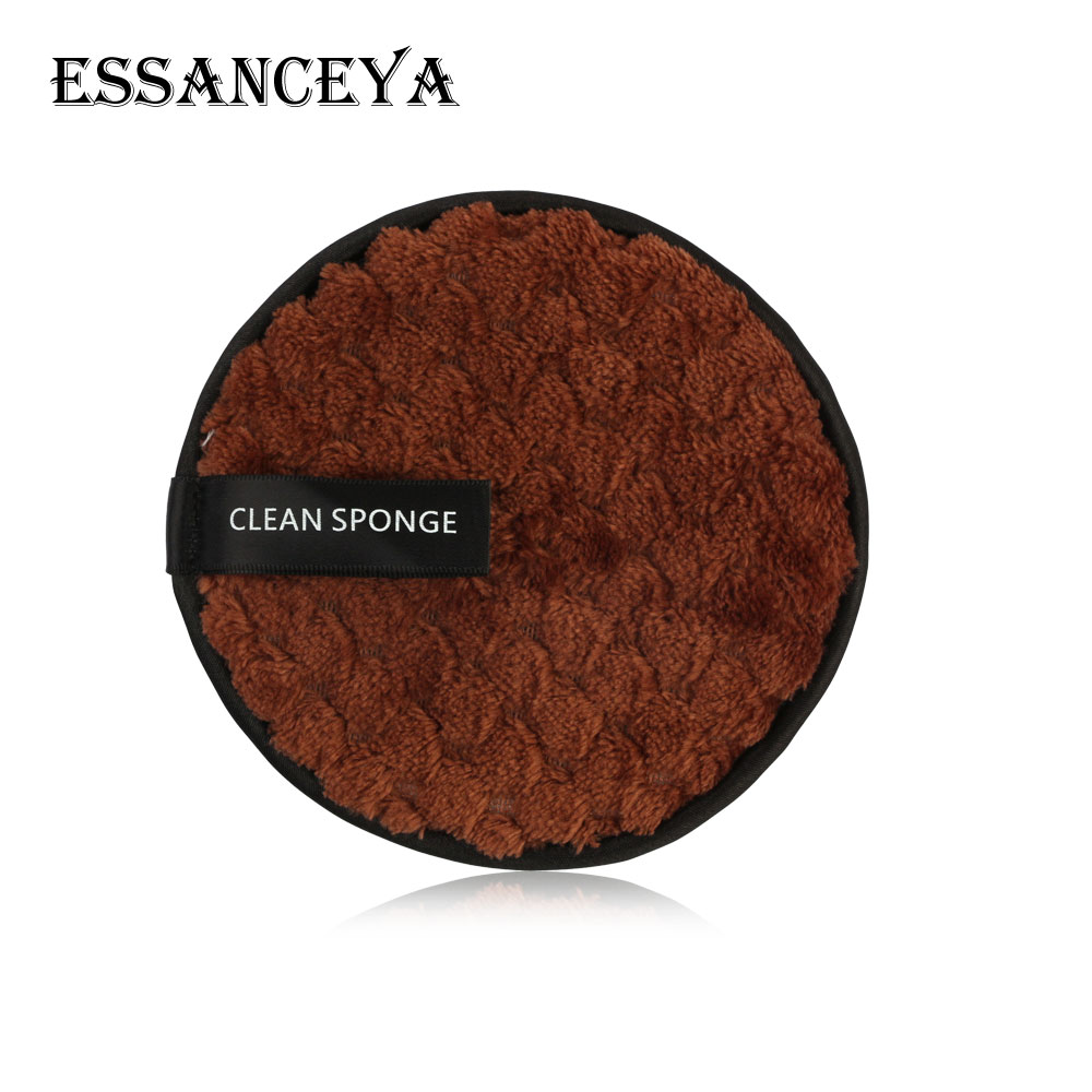 ESSANCEYA 1/2/3 Pcs Microfiber Cloth Pads Remover Towel Cleansing Facial Makeup Towel Reusable Cotton Double layer Cleaning Wipe 3