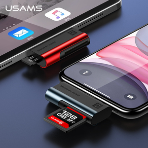 Image 1 - USAMS Adapter for iPhone XS TF Card Reader OTG adapter for ios 13 12 11 support 256G for iPhone 11 pro max X 8 7 6 6s 5 for iPad