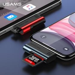 USAMS Adattatore per il iPhone XS TF lettore di Schede di OTG adattatore per ios 13 12 11 supporto 256G per iPhone 11 pro max X 8 7 6 6s 5 per iPad