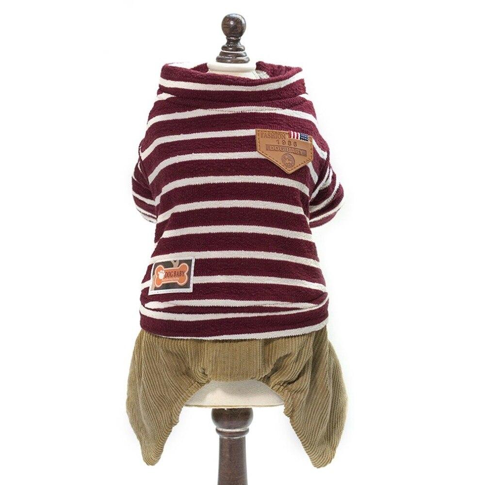 Полосатая одежда для собак, удобные декоративные пальто для домашних животных, мягкие хлопковые топы для собак, Модный осенне-зимний свитер