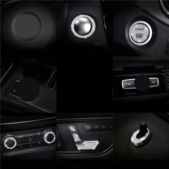Diamond interior control car decoration For Mercedes-Benz GLA200 CLA220 CLA260 CLA200 modified interior control car decoration image