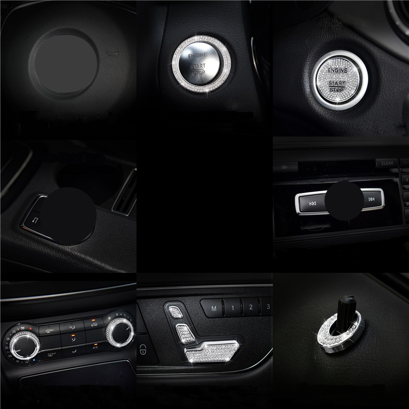 Diamond interior control car decoration For <font><b>Mercedes</b></font>-Benz GLA200 CLA220 CLA260 <font><b>CLA200</b></font> modified interior control car decoration image