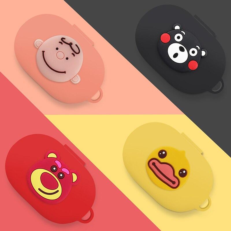 New Cute Cartoon Silicone Case Cover For Xiaomi MI Redmi AirDots Version Wireless Bluetooth Earphone TWS Charging Case Funda