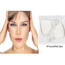 40Pcs / Set Invisible Thin Face Facial Stickers Facial Line Wrinkle Flabby Skin V-Shape Face Lift Tape For Face