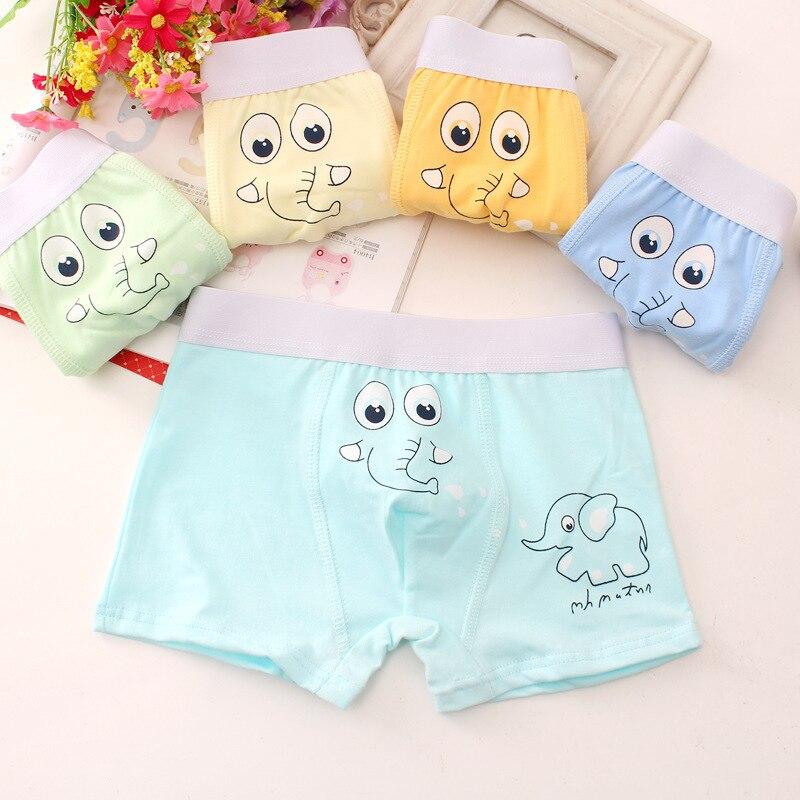 5Pcs/Lot Children's Cartoon Boxer Kids Underwear Boys Boxer Cotton Shorts Student Panties Suit 2-10 Years