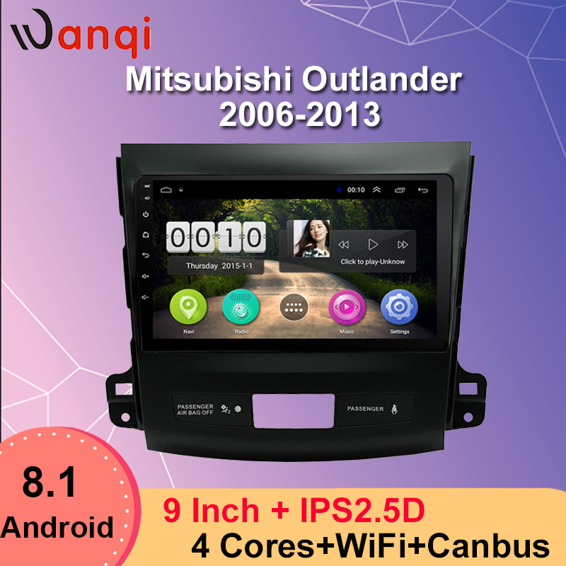 Android 8,1 полноразмерный сенсорный экран автомобильный мультимедийный плеер для Mitsubishi Outlander 2006 2013 автомобильное радио Mirrorlink стерео Bluetooth GPS
