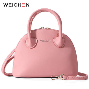 WEICHEN Shell Handbag Women Soft Leather Messenger Crossbody Shoulder Bag Ladies Tote Sac Brand Designer Bolsa Female Hand Bag weichen new designer women shoulder bag purse leather women messenger bags female clutch crossbody bag for ladies bolsa feminina