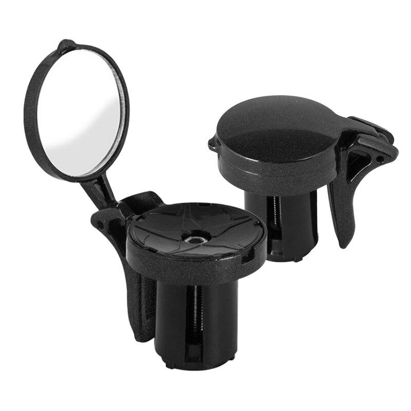 دراجة مرآة الرؤية الخلفية صغيرة قابلة للتعديل الدراجة المقود التوصيل مرآة الرؤية الخلفية سهلة التركيب العملي 360 درجة تدوير