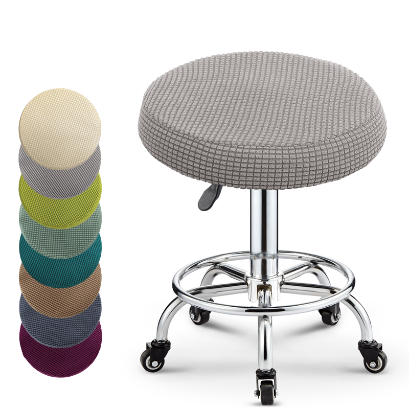 Lellen Round Chair Cover Polar Fleece Fabric  Seat Cover Bar Stool Cover For  Bar Banquet Hotel Dining Home Decoration